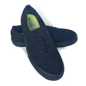 AIRWALK canvas laced black skate shoes womens 8.5